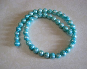 Baby Blue Freshwater Pearls - 44 beads - 5-9mm