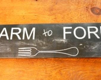 Farm to Fork Sign | Farmhouse Decor | Farmhouse Sign| Farm to Table