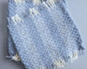Handwoven  Mug Mats in light blue cotton, set of 4