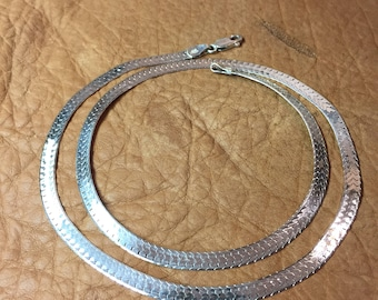 "24"" Sterling Silver Serpentine Chain - 3/16"" Wide"