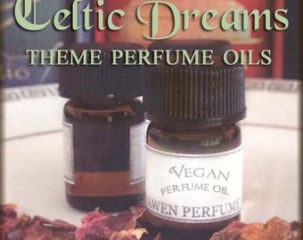 CELTIC Dreams Vegan Perfume Oil Set / Sarawen Vegan Handcraft perfume oil