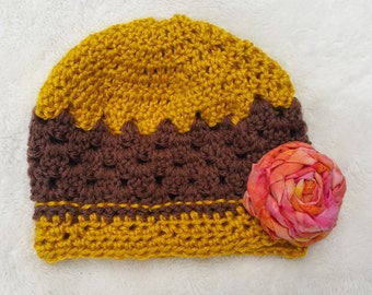 Crochet Baby Hat (0-2 months)