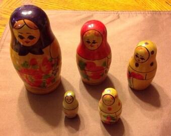Beriozka USSR Nesting Dolls