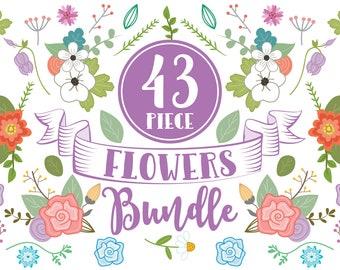 Clipart Flowers Bundle | flower clip art, floral clip art, flower clipart, clip art, floral clipart, flowers clip art, clipart