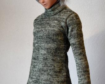 1/3 green sweater folded collar   BJD SD/Smartdoll 60cms
