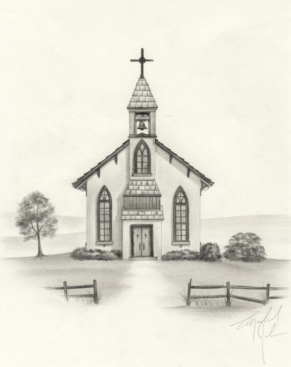 Pencil Sketches Church