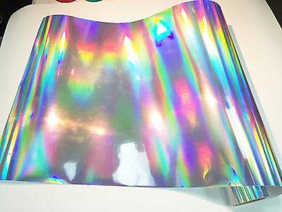 Silver Oil Slick Vinyl Silver Oil Slick Holographic Effect