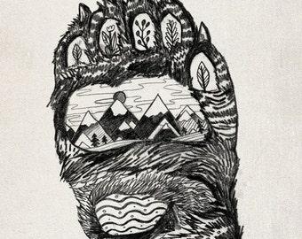 Bear Paw // A5 print 5x8