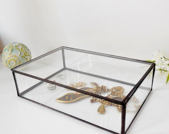 Large Glass Box Glass Display Box Glass Jewelry Box Wedding