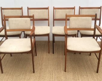 SPOTTRUP Danish set of 6 dining chairs ( 2 carvers  + 4 sidechairs )