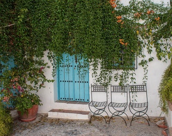 Art photography, photography of cities, photography of towns, villages of Andalusia, typical corners, white villages, Frigiliana