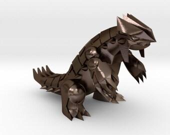 Bronze Polished Steel Groudon | Pokemon | Stainless Steel
