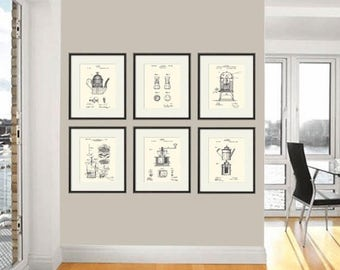Coffee Art Patent Print Dining Room Poster Wall Vintage