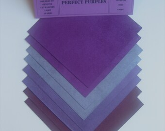 Ultrasuede Perfect Purples 5x5 Squares