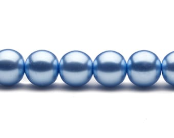 4-16mm carolina blue round glass pearl