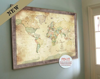 Vintage inspired map old world charm 30x45 inches vacation vintage inspired map old world charm 20x30 inches vacation art keepsake gift gumiabroncs Image collections