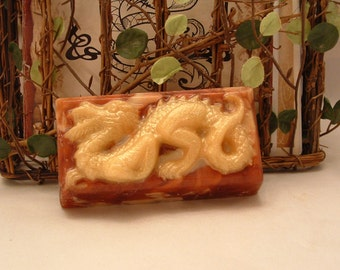Dragon's Blood Glycerin & Goat's Milk Soap.  Smells just like the incense.