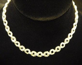 VINTAGE 1970's Crown TRIFARI Silver NECKLACE