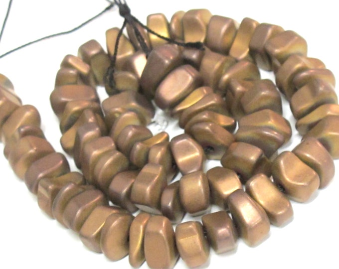 1 strand - Hematite nugget beads matte copper color gemstone Beads - GM151H