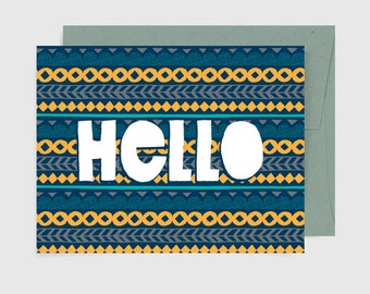 Everyday Card - Hello Pattern