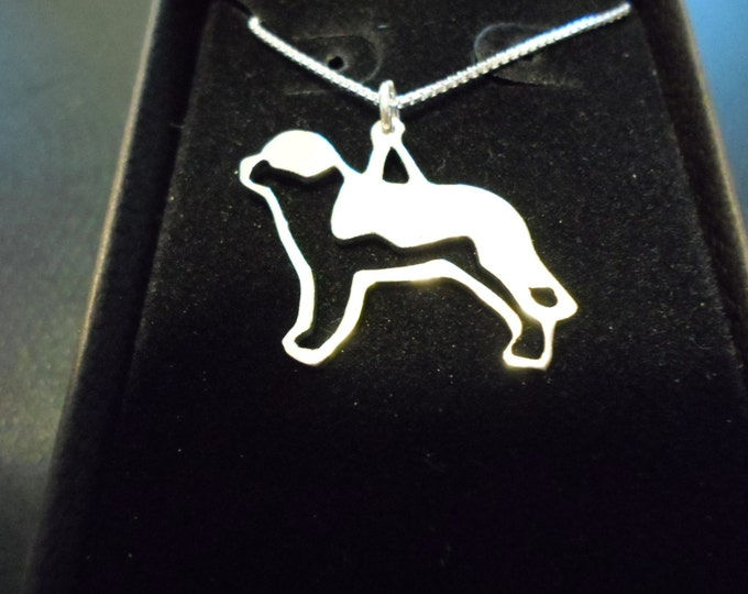 any dog breed w/sterling silver chain large 25mm-20mm (saint bernard)