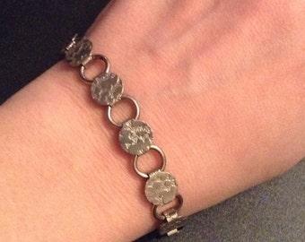 Bracelet Textured Linked Vintage