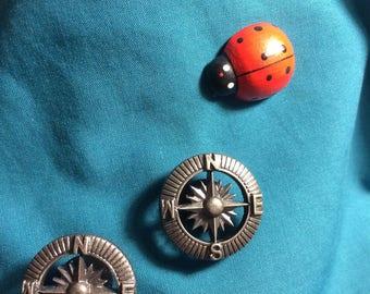 Cute STEAMPUNK  Compass Rose Steam Punk Clog Shoe Charms