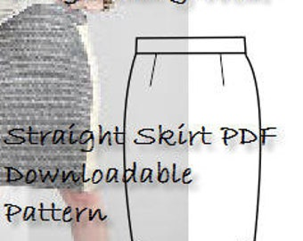 Basic SKIRT PATTERN Downladable PDF pattern -High Street Sizing-Curvy Figure Size 14 -Ideal As A Sloper or Basic Block