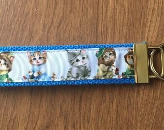 Wizard Of Oz Cats Key Chain Zipper Pull Wristlet