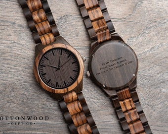 5th Anniversary Gifts for Him, Mens Wooden Watch, First 1st Anniversary Gifts, Gift for Men, Wife to Husband Gift, Wood Watch, Dad Gift