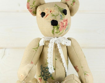 Eleanor - Bear old cloth - artist bear decoration