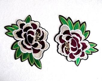 Mondella Iron on Patch,2Pcs.Iron On  Flower Patch, Floral Applique,Hot Fix Patch,Iron on Flower,Costume Embellishment