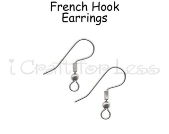 48 (24 Pairs) French Hook Earrings, Fish Hook Earring Wires, Wire Earrings - SEE COUPON