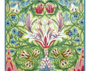 GREAT SALE DIGITAL Download William Morris's Snakeshead Counted Cross Stitch Chart