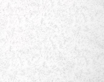 One Half Yard Remnant Michael Miller Fairy Frost Fabric It's a Boy Thing Zirconia White Metallic Shimmer Cotton Quilting Fabric