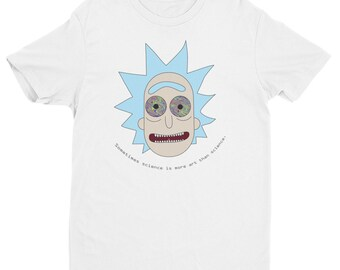 Rick and Morty T Shirt with unique psychedelic trippy eyes funny graphic art clothing