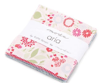 "Aria Charm Pack by Kate Spain for Moda - 5"" squares - IN STOCK"