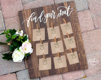 Find your seat etsy wedding seating chart sign rustic wedding signs find your seat rustic wedding decor diy seating chart np1 solutioingenieria Image collections