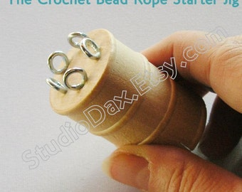 Tool and Tutorial/CD - Crochet Bead Rope Starter Jig