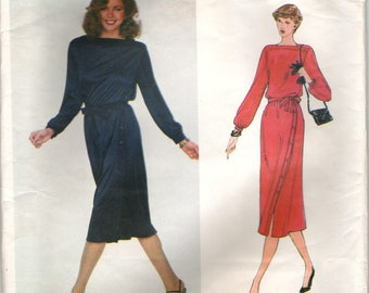 Vogue American Designer 2245  Jerry Silverman Blouson Dress