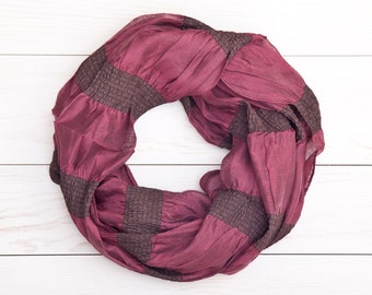 Maroon Scarf, plaid scarf, valentines gift, Womens Accessories, Beautiful Spring Scarf, Striped Women's Scarf, Valentine's Day Gift