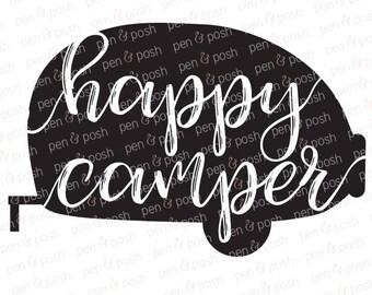 Happy Camper Sign SVG