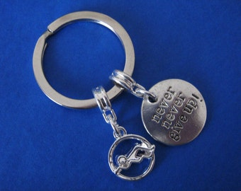 Swimming Keyring Swimmer Gift Inspirational Swim Charm
