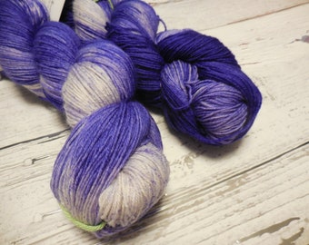 "Anglophile BFL fingering yarn in ""Hyacinth Bouquet"" from AnniePurl"
