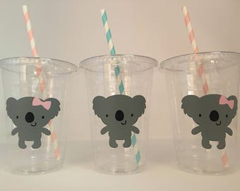 Koala Party cups, Koala Birthday Party Cups, Koala Baby Shower