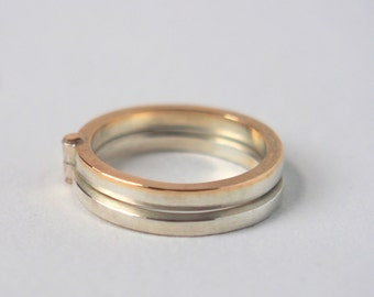 Gold Layered Stack Ring