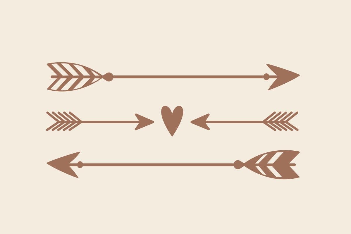 Arrow Decal Rustic Wedding Decor Boho Decor Arrow