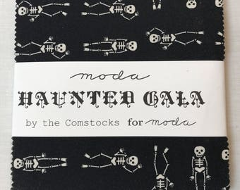 Moda Haunted Gala Charm Pack by the Comstocks