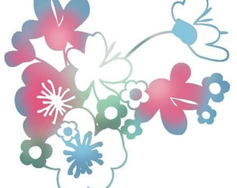 Flower Cluster - Imaginisce - Rubber Acrylic Stamp