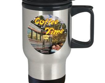 Gilmore Girls Travel Mug   Coffee Time, Luke's Sign Image   Gilmore Girls Mug   Gilmore Coffee Mug   Gilmore Girls Gift   Gilmore Travel Mug